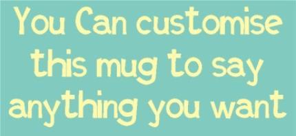 Mugs - Sky Blue and White Personalised Mug - Image 4