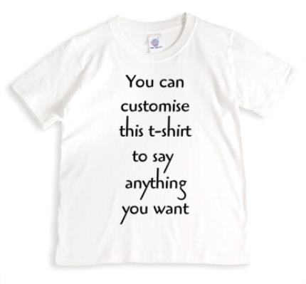 T-Shirts - Say Anything White Personalised T-Shirt - Image 1