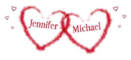 Mugs - Valentine's Day Double Red Heart Personalised Mug - Image 4