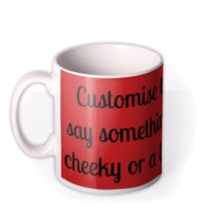 Mugs - Red Personalised Text Mug - Image 1