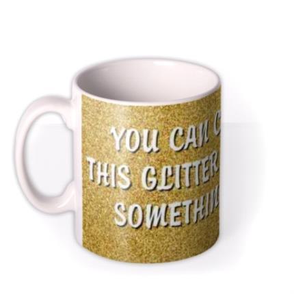 Mugs - Christmas Gold Glitter Personalised Mug - Image 1