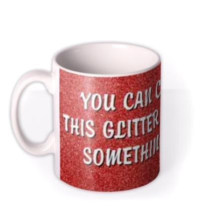 Mugs - Christmas Red Glitter Personalised Mug - Image 1