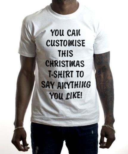 T-Shirts - Christmas Say Anything Personalised T-shirts - Image 2