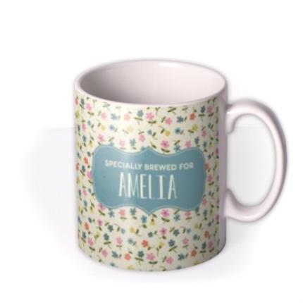 Mugs - Birthday Mug - floral - specially brewed for - Image 2