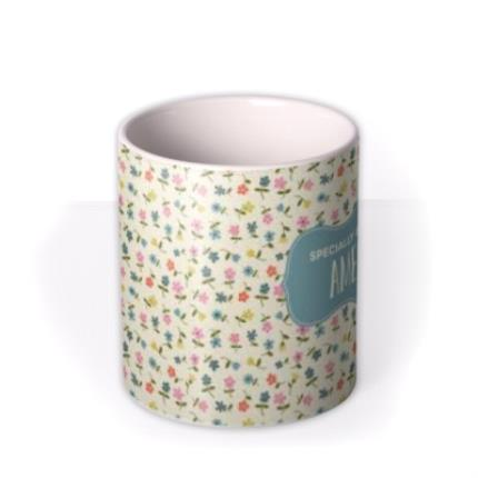 Mugs - Birthday Mug - floral - specially brewed for - Image 3
