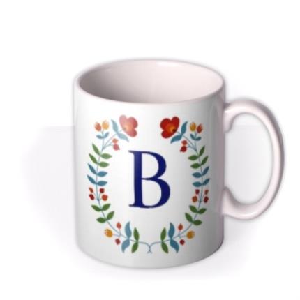 Mugs - Birthday Mug - floral - monogrammed - initial - Image 2