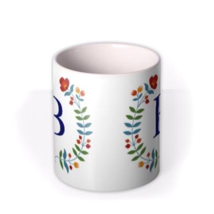 Mugs - Birthday Mug - floral - monogrammed - initial - Image 3