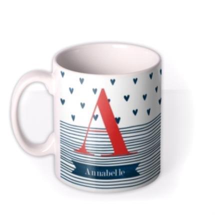 Mugs - Birthday Mug - monogrammed - initials - hearts - Image 1
