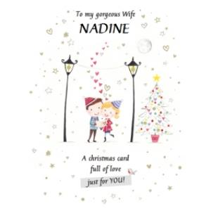 Greeting Cards - Jolie Personalised Gorgeous Wife Card - Image 1
