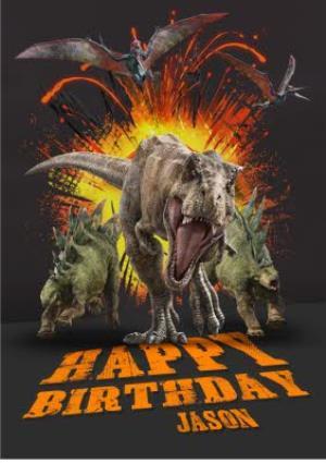Greeting Cards - Birthday card - dinosaurs - jurassic world - tyrannosaurus rex - Image 1