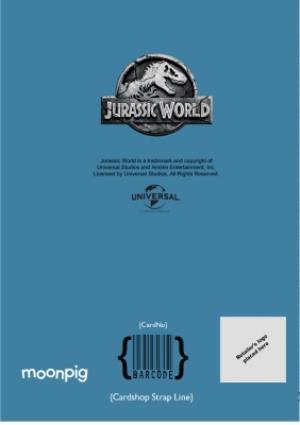 Greeting Cards - Birthday card - photo upload card - dinosaurs - jurassic world - raptor - Image 4