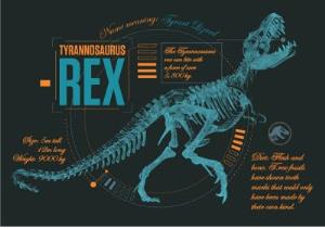 Greeting Cards - Birthday card - dinosaurs - jurassic world - tyrannosaurus rex - Image 1
