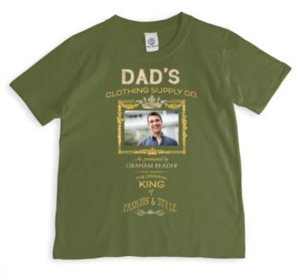 T-Shirts - Dad's Clothing Co Photo Upload T-shirt - Image 1
