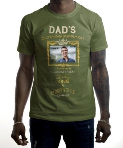 T-Shirts - Dad's Clothing Co Photo Upload T-shirt - Image 2