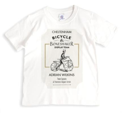 T-Shirts - Bicycle Boneshaker Personalised T-shirt - Image 1