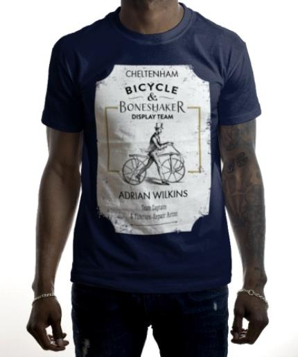 T-Shirts - Bicycle Boneshaker Personalised T-shirt - Image 2