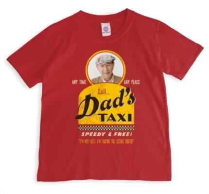 T-Shirts - Dad's Taxi Photo Upload T-shirt - Image 1