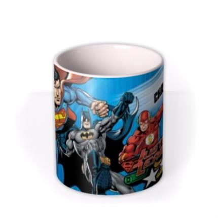 Mugs - Justice League Action Sequence Personalised Name Mug - Image 3