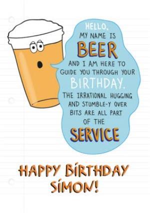 Beer Birthday Card