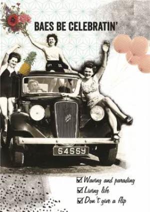 Greeting Cards - Baes Be Celebrating' Personalised Birthday Card - Image 1