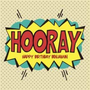 Hooray Pop Art Personalised Birthday Card