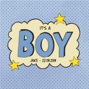 Greeting Cards - James Ellis Its A Boy Personalised Card - Image 1