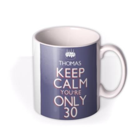 Mugs - Keep Calm 30 Personalised Mug - Image 2