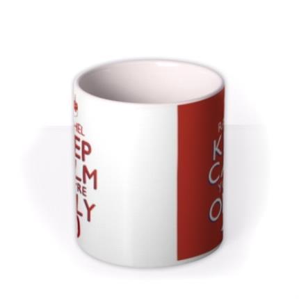 Mugs - Keep Calm 40 Personalised Mug - Image 3