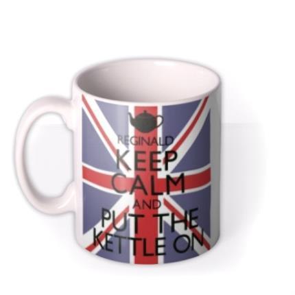 Mugs - Keep Calm Kettle Personalised Mug - Image 1