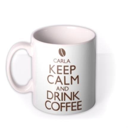 Mugs - Keep Calm Coffee Personalised Mug - Image 1