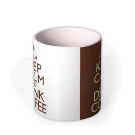 Mugs - Keep Calm Coffee Personalised Mug - Image 3