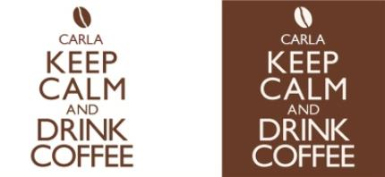 Mugs - Keep Calm Coffee Personalised Mug - Image 4