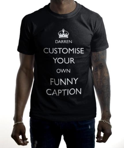 T-Shirts - Keep Calm and Customised Personalised T-Shirt - Image 2