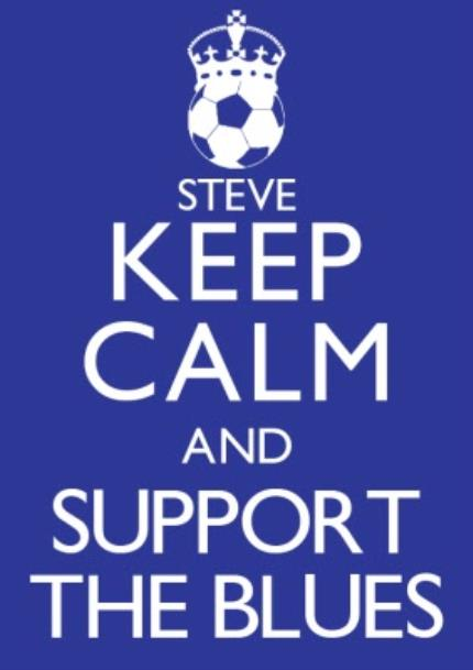 T-Shirts - Keep Calm and Support The Blues Personalised T-shirt - Image 4