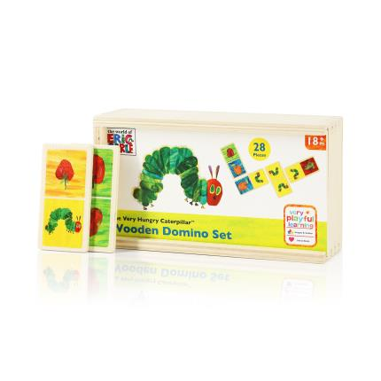 Toys & Games - Hungry Caterpillar Wooden Dominoes - Image 1