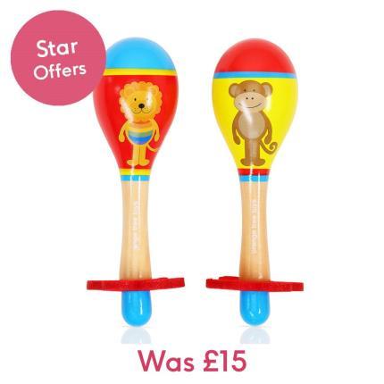 Toys & Games - Lion & Monkey Maraca Set - Image 1
