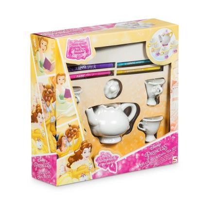 Toys & Games - Belle Colour Your Own Mrs Pots and Chip Tea Set - Image 1