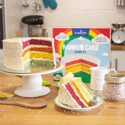 Food Gifts - Rainbow Cake Kit - Image 1