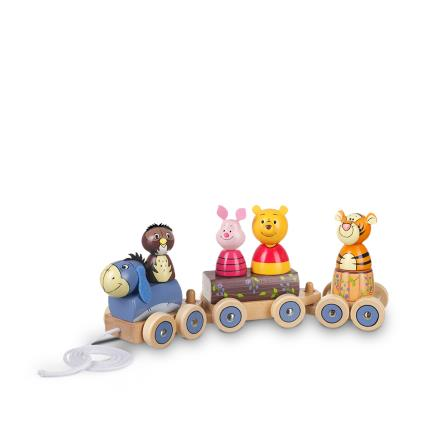 Toys & Games - Winnie The Pooh Puzzle Wooden Train - Image 1