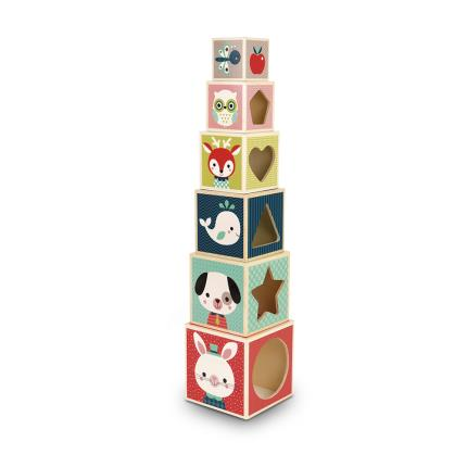 Toys & Games - Baby Forest Block Pyramid Set - Image 2
