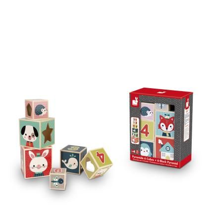 Toys & Games - Baby Forest Block Pyramid Set - Image 3