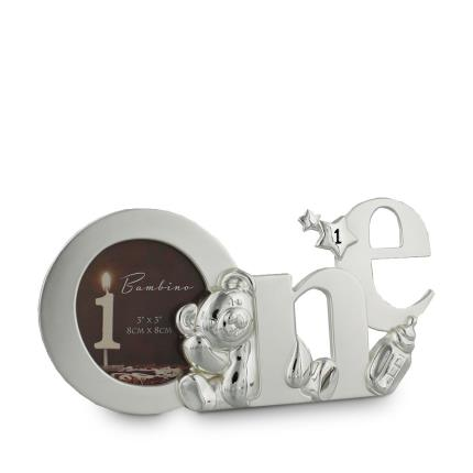 Toys & Games - Silver Plated 'One' Baby Photo Frame - Image 1