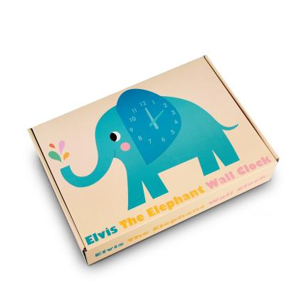 Toys & Games - Elvis the Elephant Wooden Wall Clock - Image 2