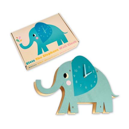 Toys & Games - Elvis the Elephant Wooden Wall Clock - Image 3