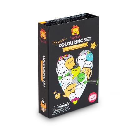 Toys & Games - Tiger Tribe Glow Friends Neon Colouring Set - Image 1
