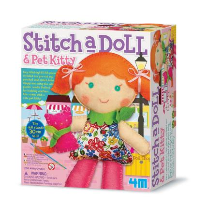 Toys & Games - Stitch a Doll Kit & Pet Kitty - Image 1