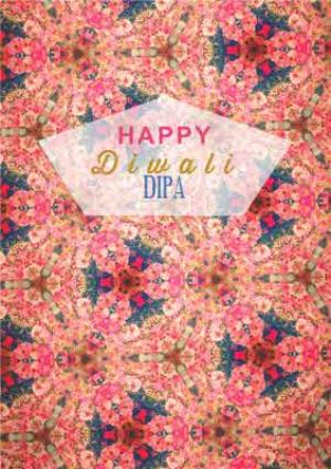 Greeting Cards - Beautiful Dipa Personalised Happy Diwali Card - Image 1