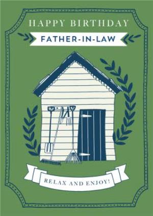 Greeting Cards - Birthday card - Garden Shed - Father-In-Law - Image 1