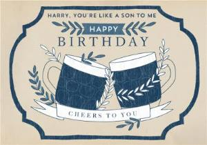 Greeting Cards - Birthday Card - Beer - Pint - You're Like A Son To Me - Image 1