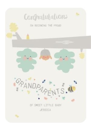 congratulations grandparents new baby card moonpig